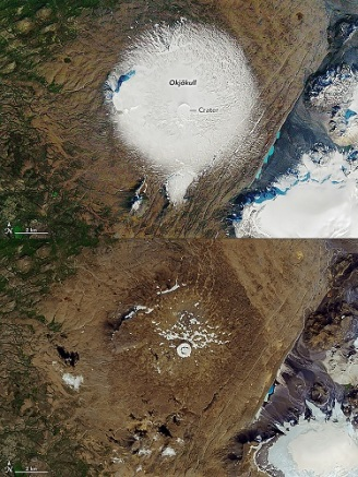 COMBO-ICELAND-GLACIER-ENVIRONMENT-OKJOKULL-GLOBAL WARMING-CLIMAT